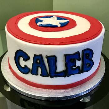 Captain America Layer Cake - Back