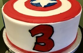 Captain America Layer Cake