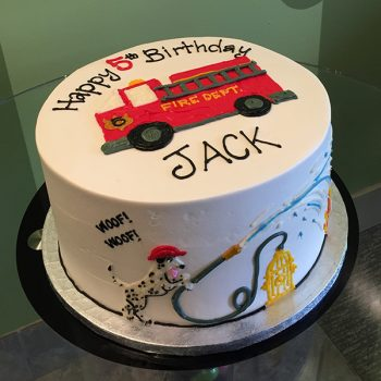 Fire Truck Layer Cake - Top