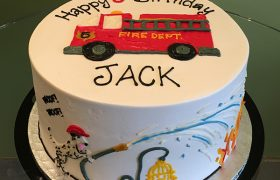 Fire Truck Layer Cake