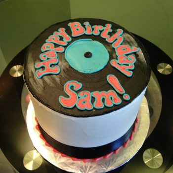 Groovy Record Layer Cake