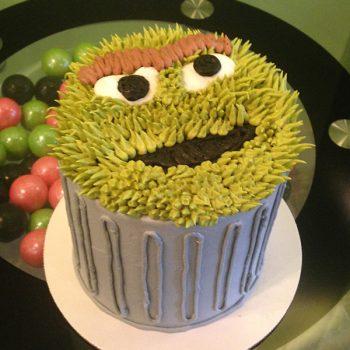 Oscar the Grouch Layer Cake