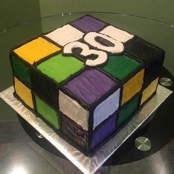 Rubik's Cube Layer Cake - Left Side