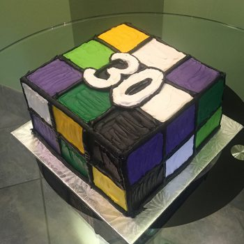 Rubik's Cube Layer Cake - Right Side