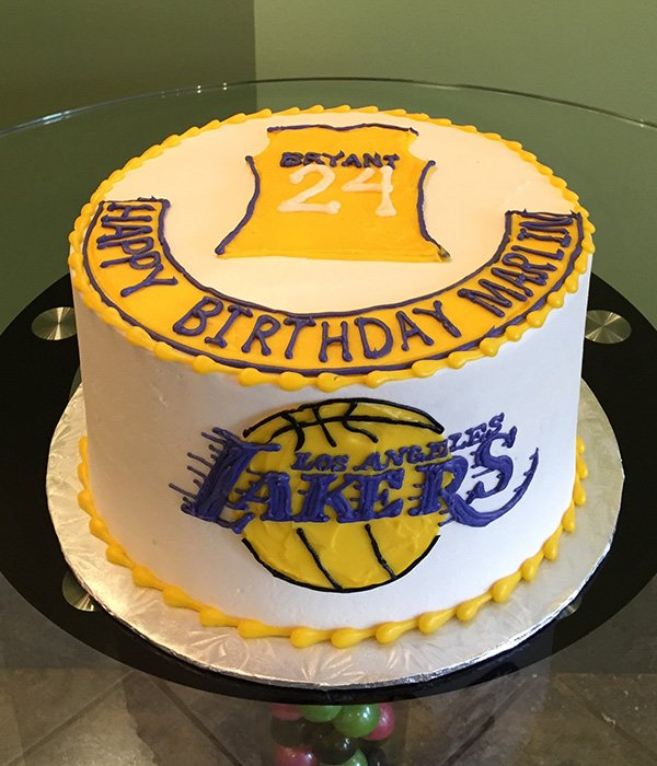 Sports Team Layer Cake - Lakers