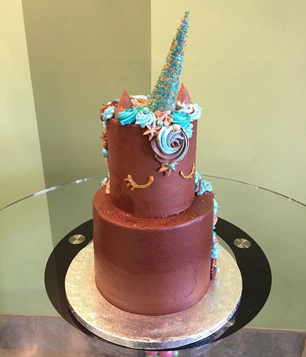 Unicorn Tiered Cake Classy Girl Cupcakes