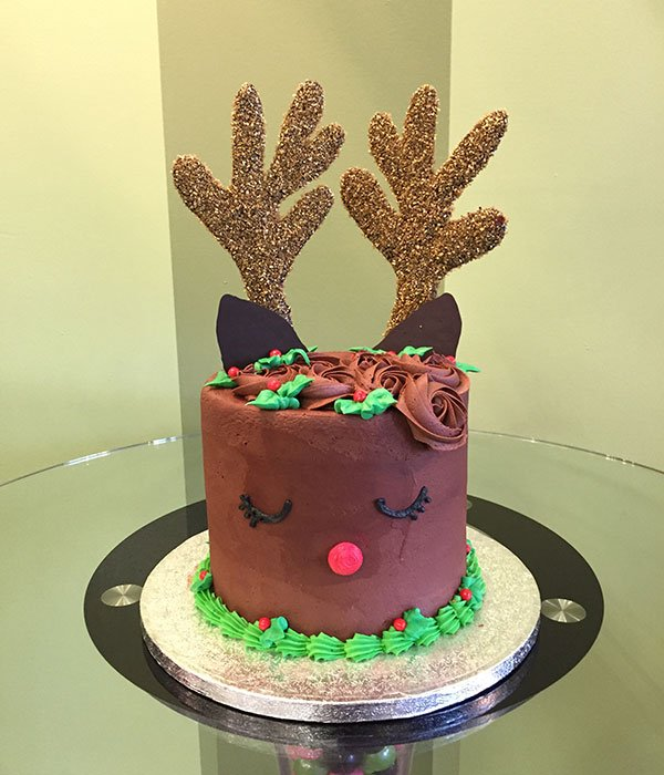 Reindeer Layer Cake - Brown