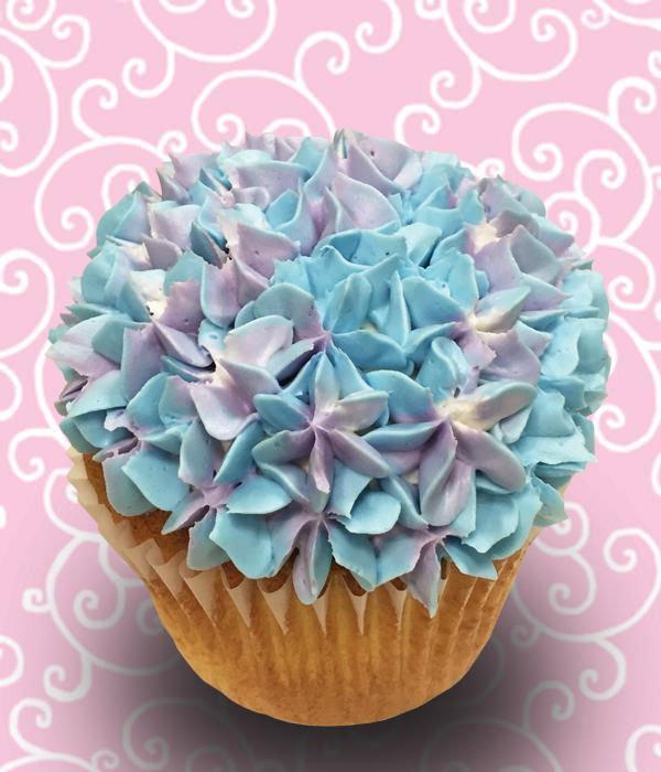 Assorted Flower Jumbo Filled Cupcake