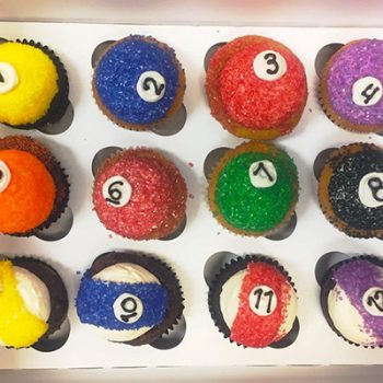 Billiard Ball Cupcakes