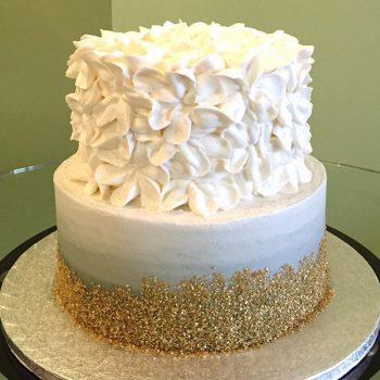 Glitter Ombré Tiered Cake