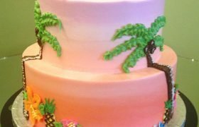 Tropical Tiered Cake