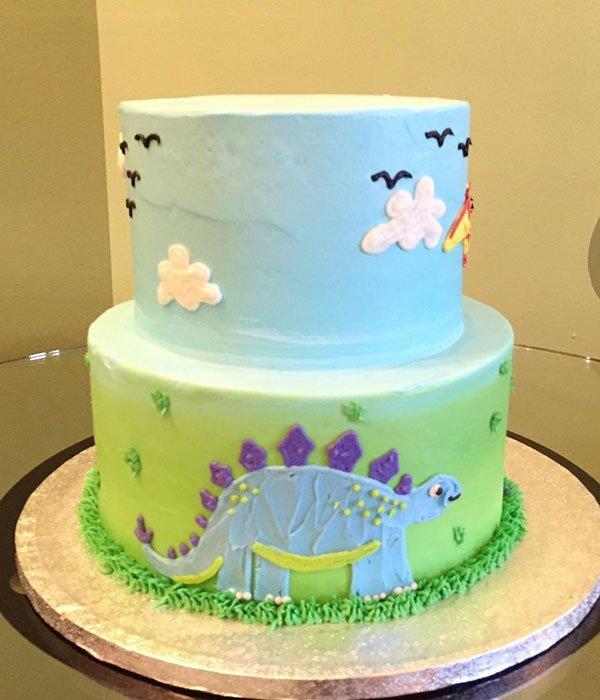 Dinosaur Tiered Cake - Back
