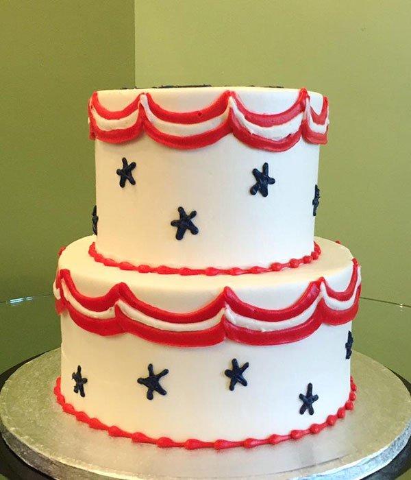 Stars & Stripes Tiered Cake
