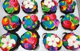 Unicorn Mane Cupcakes