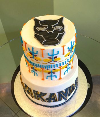Black Panther Tribal Tiered Cake - Top