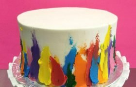 Finger Paint Layer Cake