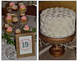 Astor Hotel Milwaukee Wedding Cupcakes - Centerpiece Display Gallery