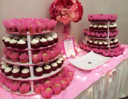 Geneva Ridge Resort Wedding Cupcakes - Tiered Cupcake Display Gallery