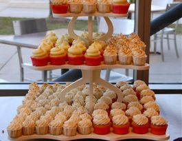 Harley Davidson Museum Wedding Cupcakes - Modern Cupcake Display Gallery