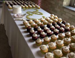 Rail Hall Milwaukee Wedding Cupcakes - Table Display Gallery