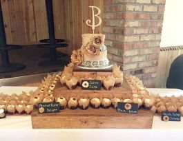 Hitching Post West Bend Wedding Cupcakes - Rustic Cupcake Display Gallery